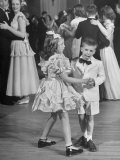 Sharon Queeny Dancing with Charles La Fond, Annual Ball Given by Dancing Teacher Annie Ward Foster Premium Photographic Print by George Skadding