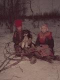 Lapland Wolf Hunt, Finland Premium Photographic Print by Mark Kauffman
