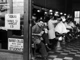 Barbershop at Down Town Hair School Fotoprint van Alfred Eisenstaedt