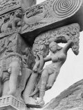 Goddess Yakshi, a Detail from a Sanchi Temple Gate Premium Photographic Print by Eliot Elisofon