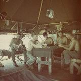 US Marine Camp on Pacific Islands Photographic Print by J. R. Eyerman