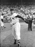 Ted Williams Throwing Baseball Premium Photographic Print by Ralph Morse