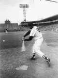 Ted Williams Taking a Swing During Batting Practice Premium Photographic Print by Ralph Morse