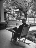 Bank President Robert Allen Willis Rocking on His Porch after His Bank Closed at 3 PM Premium Photographic Print by Robert W. Kelley