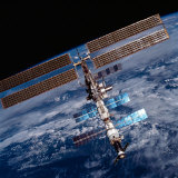The International Space Station, Photographed by an Astronaut Aboard the Space Shuttle Discovery Photographic Print