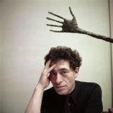 Portrait of Alberto Giacometti in His Studio Premium Photographic Print by Gordon Parks