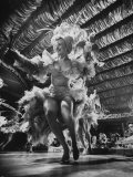 Chorus Girls Entertaining at the Latin Quarter Night Club Premium Photographic Print by Yale Joel