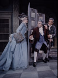 School for Scandal, Geraldine McEwan, Ralph Richardson and John Gielgud Premium Photographic Print by John Dominis