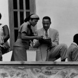 Civil Rights Leader Rev. Martin Luther King Jr. and Wife Visiting Ghanain Independence Ceremonies Premium Photographic Print by Mark Kauffman