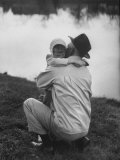 WWII Veteran Harold Lumbert Consoling His Daughter Sue Photographic Print by George Silk