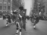 Band Playing Bag-Pipes During the St. Patrick Day Parade Premium Photographic Print by Robert W. Kelley