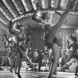 Chorus Girls Dancing During Show at Latin Quarter Photographic Print by George Silk