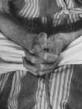 Shot of Hands Belonging to an Old Woman Photographic Print by Carl Mydans