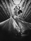 Belly Dancer Performing at the Latin Quarter Night Club Premium Photographic Print by Yale Joel