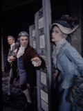 School for Scandal, John Gielgud, Ralph Richardson and Geraldine McEwan Premium Photographic Print by John Dominis