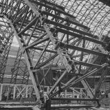 Construction of Blimp Hangar Photographic Print by Andreas Feininger