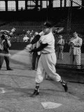 Ted Williams, Player for the Red Sox, Taking Batting Practice Premium Photographic Print by Ralph Morse