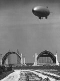 Blimp Hangar Premium Photographic Print by Andreas Feininger
