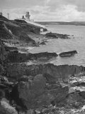 View of Waterford with Lighthouse at Mouth of Blackwater Premium Photographic Print by Hans Wild