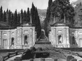 View of the Formal Garden of Villa D'Este Premium Photographic Print by Carl Mydans