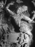 Carving of Sita in the Ellora Caves Premium Photographic Print by Eliot Elisofon