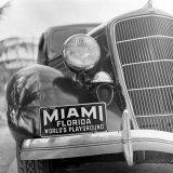 Miami Beach Fotoprint van Alfred Eisenstaedt