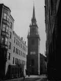 Exterior of the Old North Church Premium Photographic Print by Walter Sanders
