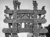 North, East South, West Gates of Sanchi Temple in India Premium Photographic Print by Eliot Elisofon