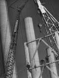 Workmen Builiding Chimneys at World's Biggest Coal-Fueled Generating Plant Premium Photographic Print by Margaret Bourke-White