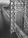 George Washington Bridge with Manhattan in Background Photographic Print by Margaret Bourke-White