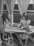 Zelma Ironing a Blouse Made of Feedsack Material Premium Photographic Print by Wallace Kirkland