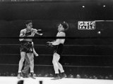 Joe Louis, Negro Boxer Fighting Perry Metal Print by Peter Stackpole