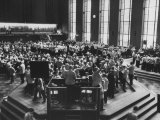 Chicago Board of Trade, as Proposed Wheat Sale to Russia Sends Prices Soaring Photographic Print by Robert W. Kelley