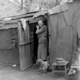 Gypsies Living in Slums under the Trees in New Forest, England Photographic Print by William Sumits