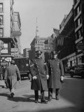 Two Irish Cops Standing on Washington Streeet Premium Photographic Print by Walter Sanders