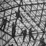 Workmen Covering Top of the Geodesic Dome, Ford Rotunda Outside their River Rouge Plant Photographic Print by Howard Sochurek