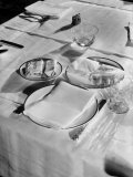 Place Setting of Supreme Court Justice Benjamin N. Cardozo, Dining Room of Supreme Court Building Premium Photographic Print by Margaret Bourke-White