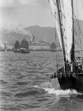 Hong Kong Industry Premium fotografisk trykk av John Dominis
