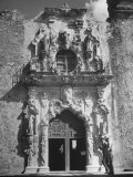 San Jose Mission, Used as Church and Historical Site, Showing Bell Tower Through Window Opening Premium Photographic Print by Cornell Capa