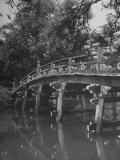 Taikobashi Bridge in the Kyoto Imperial Gardens Premium Photographic Print by Dmitri Kessel