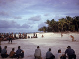 American Troops on Tarawa Playing Softball During WWII Premium Photographic Print by J. R. Eyerman