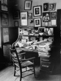 The Ever-Littered Desk of the Late, Famous William Allen White Premium Photographic Print by William C. Shrout