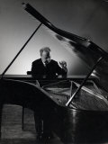 Excellent Photgraph of Pianist Josef Hofmann Seated at Piano in His Studio Premium Photographic Print by Gjon Mili