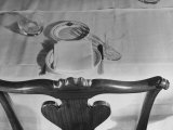Place Setting of Supreme Court Justice Louis D. Brandeis, Dining Room of the Supreme Court Building Premium Photographic Print by Margaret Bourke-White