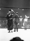 Joe Louis, Negro Boxer Fighting Perry Premium Photographic Print by Peter Stackpole