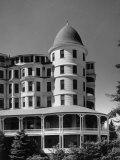 Oceanside Hotel, Showing Two-Story Veranda and Cupola on Corner Premium Photographic Print by Walker Evans