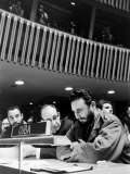 Fidel Castro at Un Meeting Premium Photographic Print by Alfred Eisenstaedt
