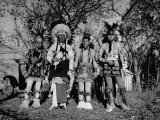 Otoe Tribe in Traditional Clothing, During Presentation of Jefferson's Letter to Princeton Premium Photographic Print by Cornell Capa