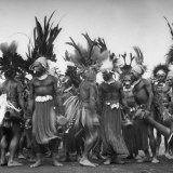 "Wahgi Natives of the Central Highlands Wearing Elaborate Decorations During ""Sing Sing"" Celebration Photographic Print by Eliot Elisofon"