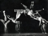 "Former National A.A.U. and Olympic Tumbling Champion Merrill Rowland ""Flip"" Wolfe Premium Photographic Print by Gjon Mili"